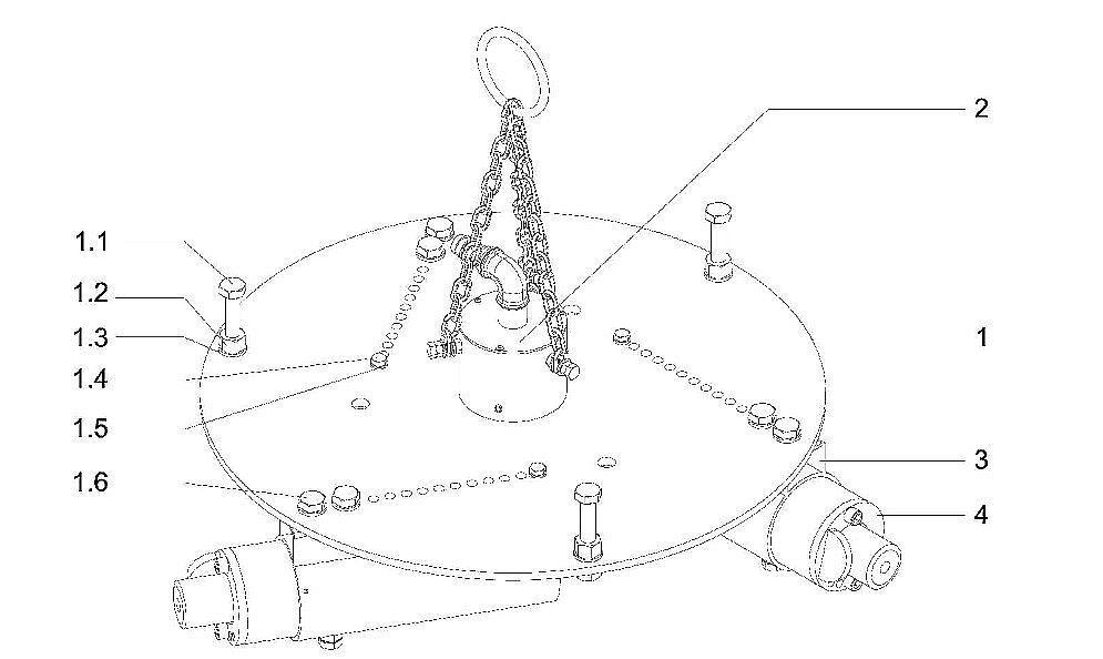 Устройство трамбовки для набивки футеровки